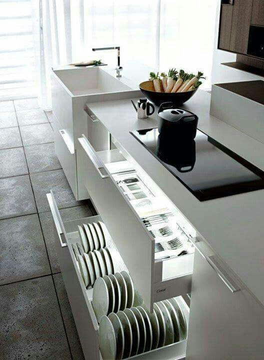 Kitchen drawer organising Kitchen Pinterest Kitchen drawers - nobilia küchenplaner online