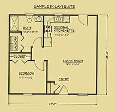 Floor plan for mother in-law suite. | houses | Pinterest | Tiny ...