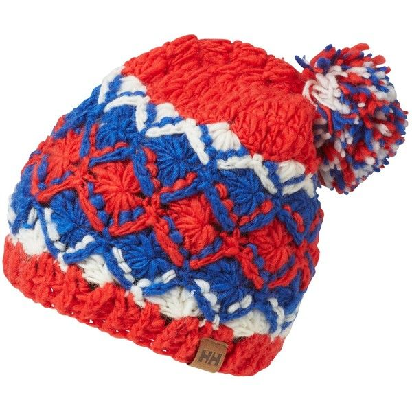 663cc81fdfed61 Helly Hansen Knitted Beanie, One Size , Red/Blue/White ($31) ❤ liked on  Polyvore featuring accessories, hats, red white hat, blue hat, white beanie,  ...