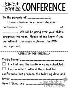 parents meeting letter