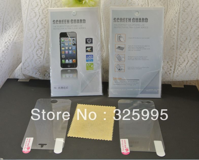 Fast shipping Retail Package 10pcs/lot Clear Front+Back Full Screen Protector for Apple iPhone 5 5G Free Shipping on AliExpress.com. $4.80