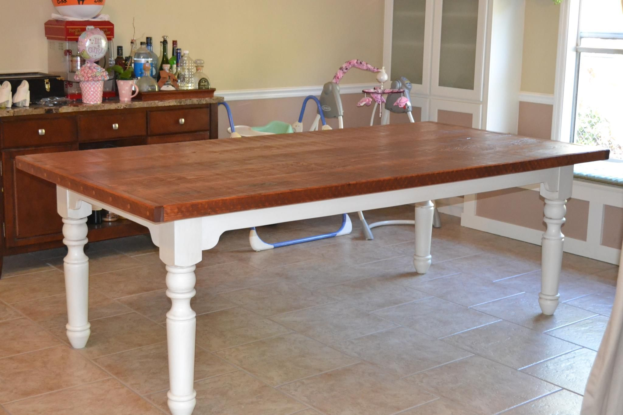 Farm Style Table Using Osborne Portsmouth Dining Table Legs   Osborne Wood  Videos