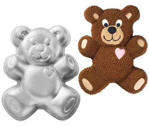 Teddy Bear Cake Baking Pan Tin Kids Birthday Party Aluminium By Wilton