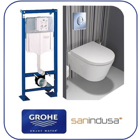 pack wc suspendu b ti support grohe cuvette courte city grohe sanindusa salle de bain 12 cf. Black Bedroom Furniture Sets. Home Design Ideas