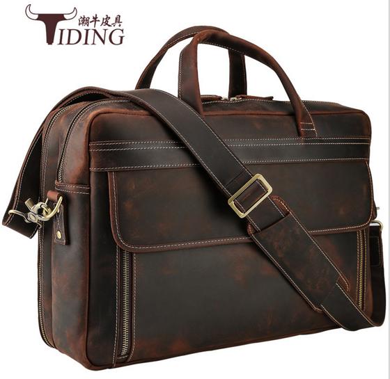 Products Leather Briefcase Men Laptop Bag 17 Inch Laptop Bag
