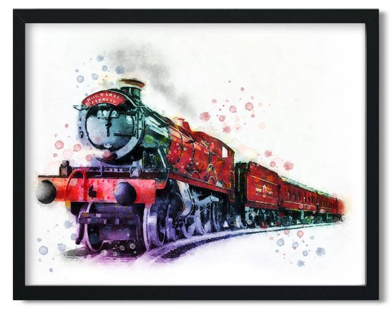 photograph regarding Hogwarts Express Printable identified as Hogwarts Convey Harry Potter watercolor printable, Harry