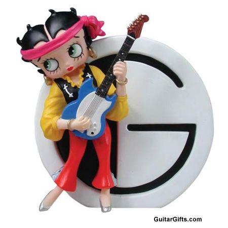 Betty Boop on guitar