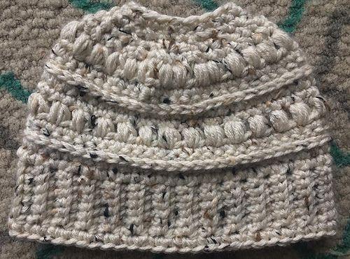 Aurora Messy Bun Toque pattern by Rachel Burdekin | Pinterest