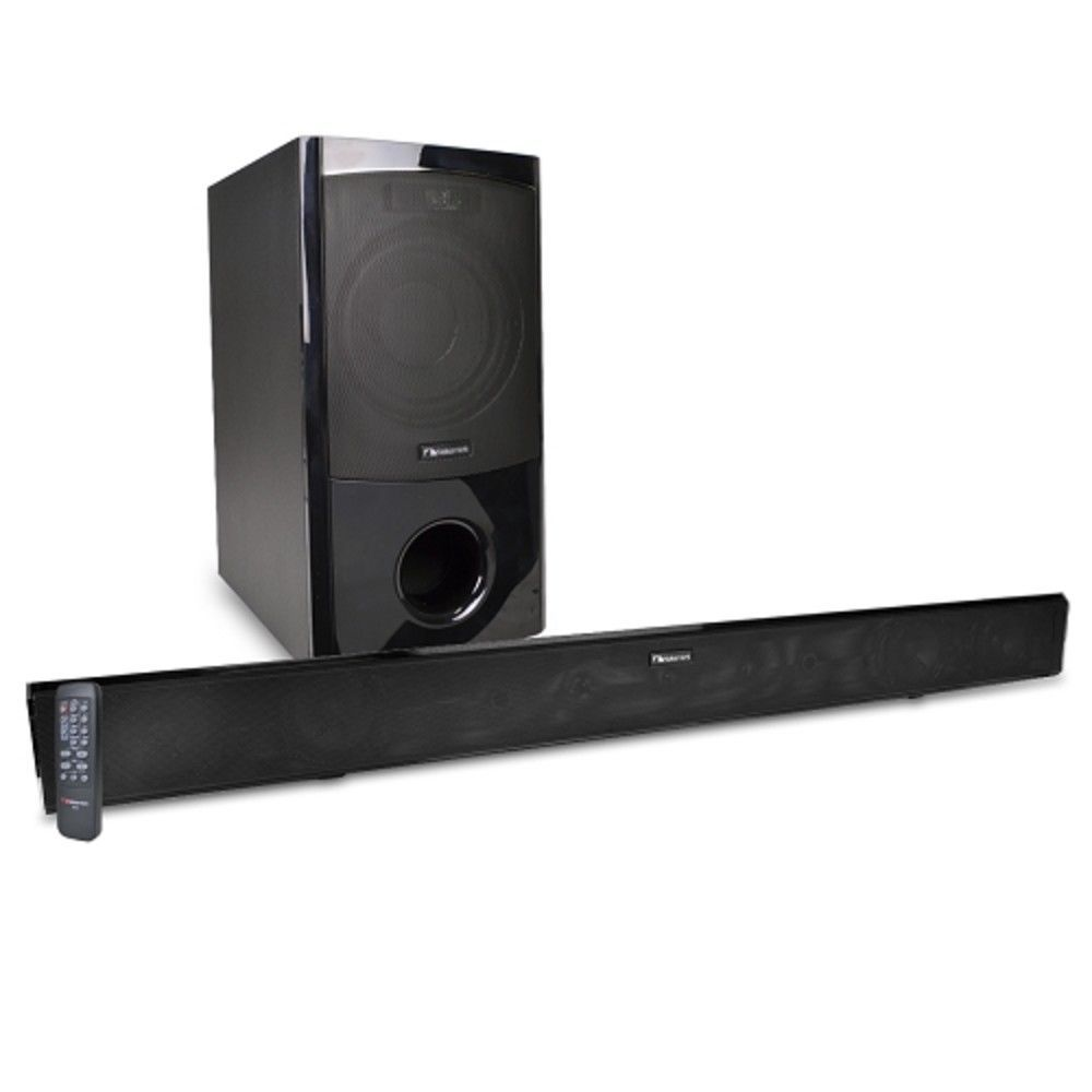 Nakamichi Nk6 38 2 1 Channel 300w Bluetooth Surround Sound Bar Home Theater Syst