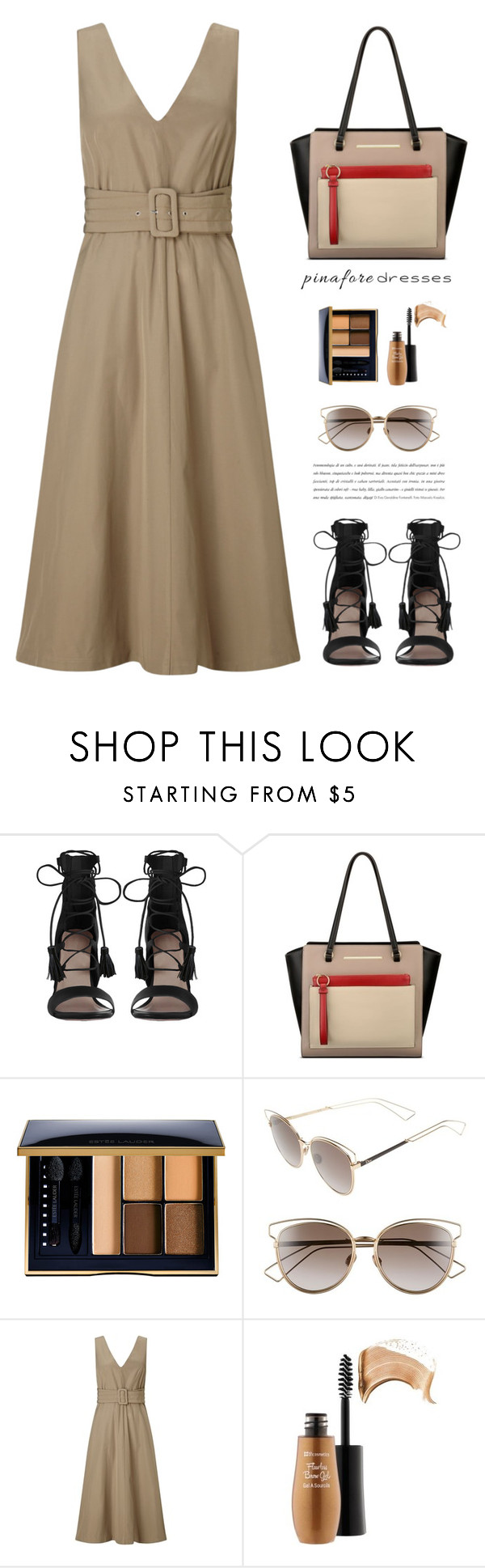 """Pinafores dress"" by yexyka ❤ liked on Polyvore featuring Zimmermann, Anne Klein, Estée Lauder, Christian Dior, pinafores and 60secondstyle"