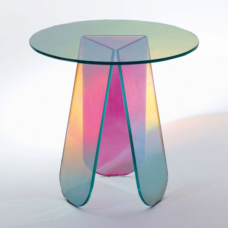 Table en verre irisé de P. Urquiola   Mobilier en verre   Pinterest ...