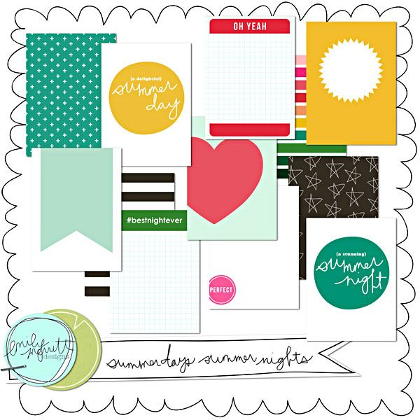 Summer Days Summer Nights Journal Cards By Emily Merritt At The Lilypad