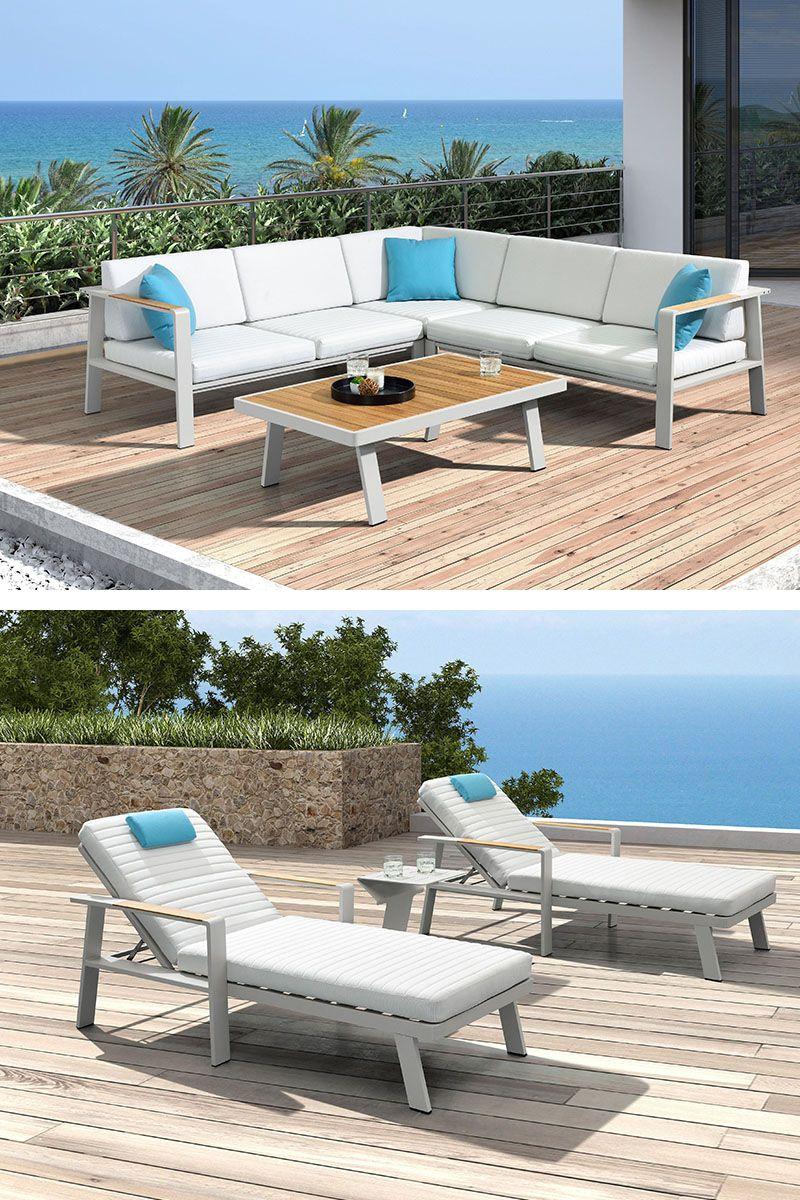 Loungegarnitur Mit Holz Aluminium Bestellen Lounge Garnitur Lounge Gartenmobel