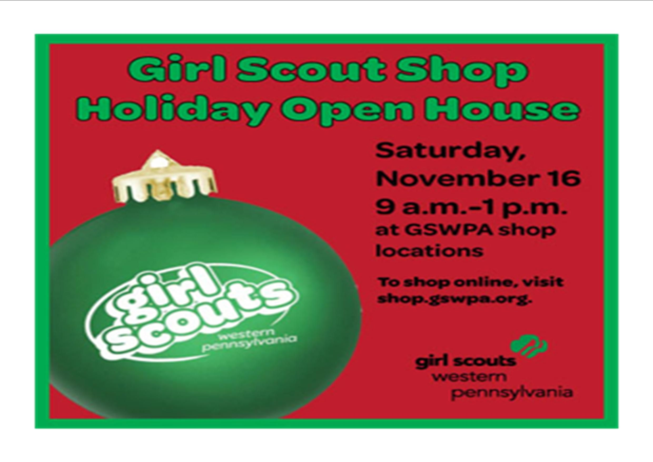Girl scouts western pa holiday open house saturday november 16th girl scouts western pa holiday open house saturday november 16th from 9 1 publicscrutiny Gallery