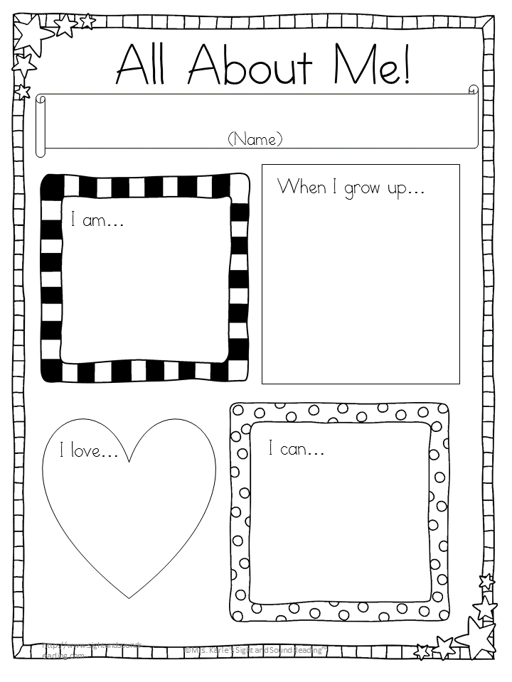 All About Me Writing Prompts -for Kindergarten or First Grade ...