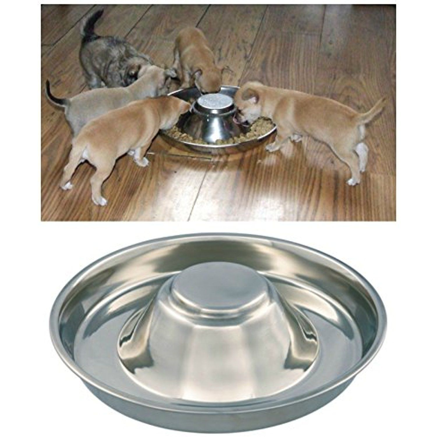 Kabalo Stainless Steel Puppy Cat Dog Pet Litter Food Feeding