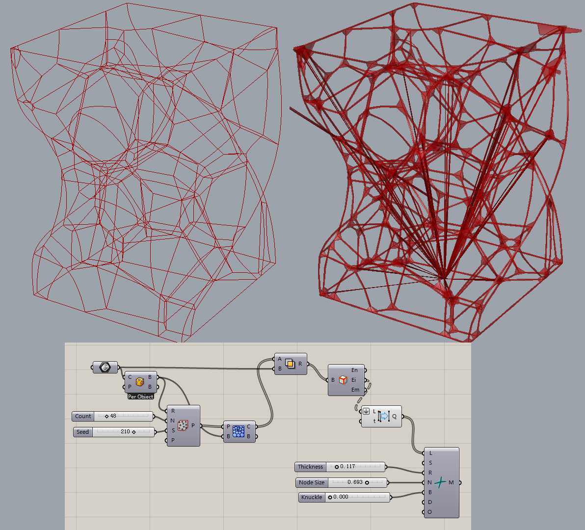 Introducing 39 exoskeleton 39 a wireframe thickening tool for Arquitectura parametrica