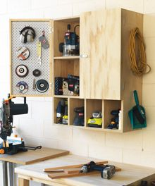 Put your power tools to good use and create a great home for them at the same time with this D.I.Y. power tool cabinet #organised