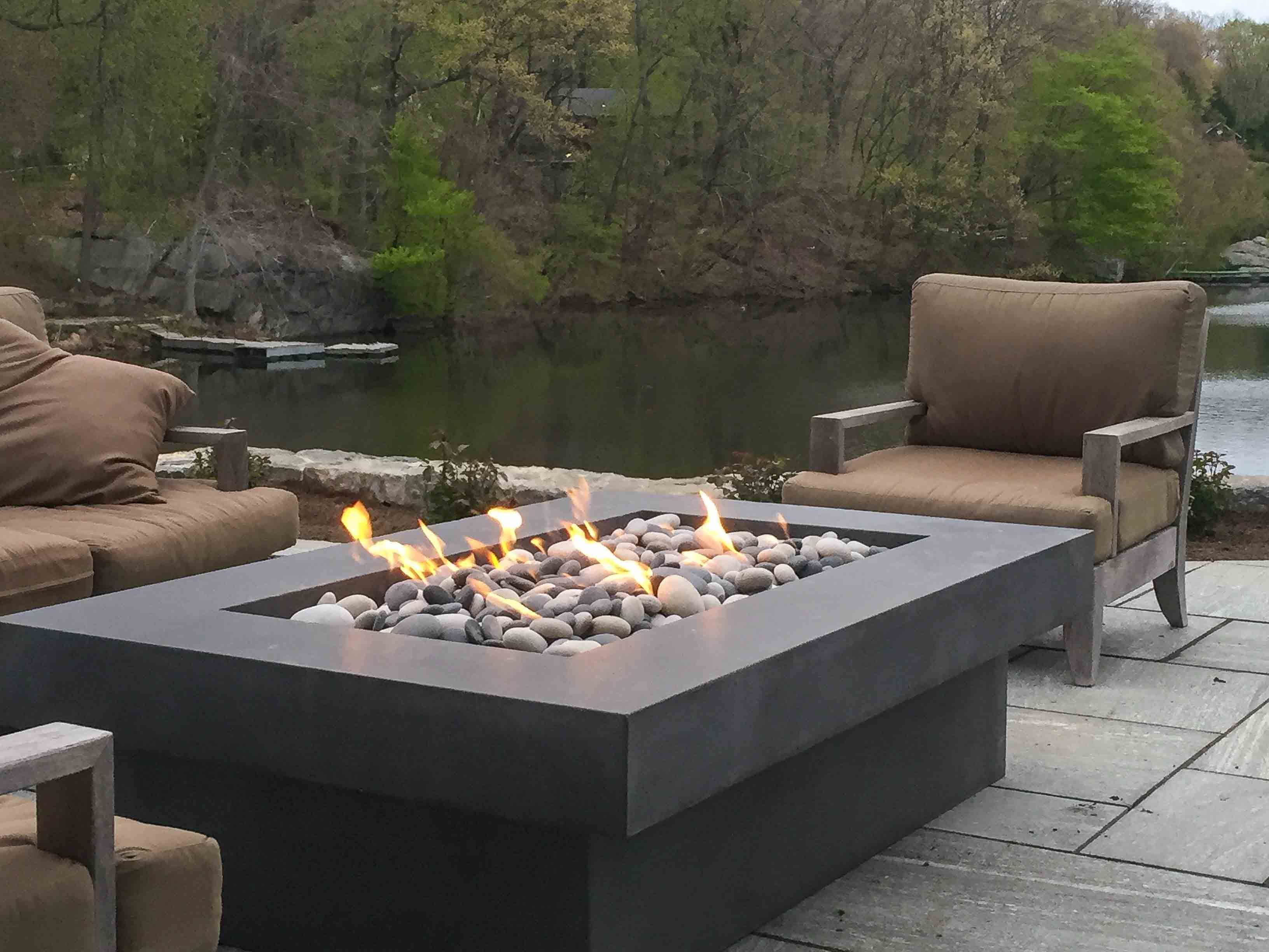 Olson Fire Table Modern Fire Pit Concrete Fire Pits