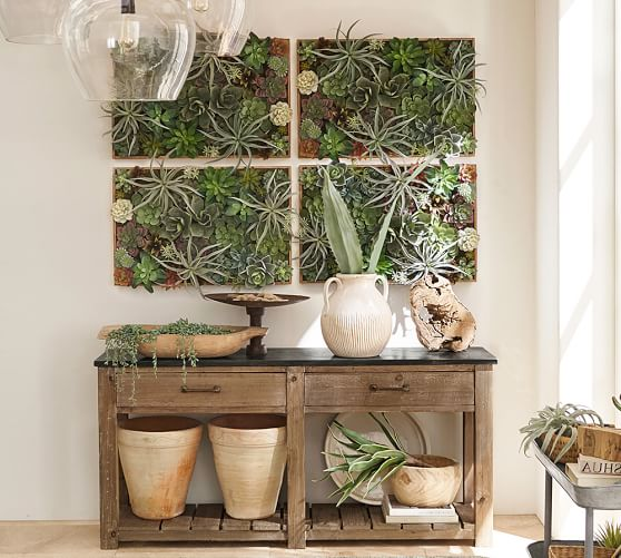 Succulent Wall Green Large Pottery Barn Succulent Wall Succulent Wall Art Living Wall Planter