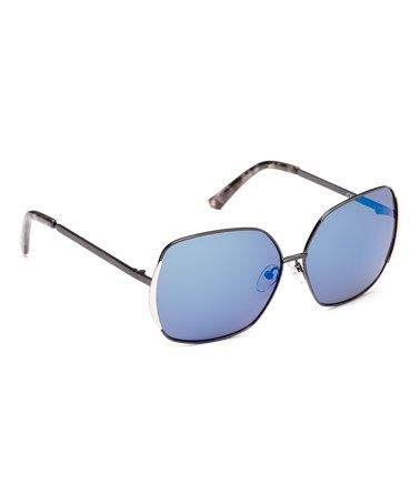 36695f8dce Love this Black   Silver Base 6 Square Polarized Sunglasses on  zulily!   zulilyfinds