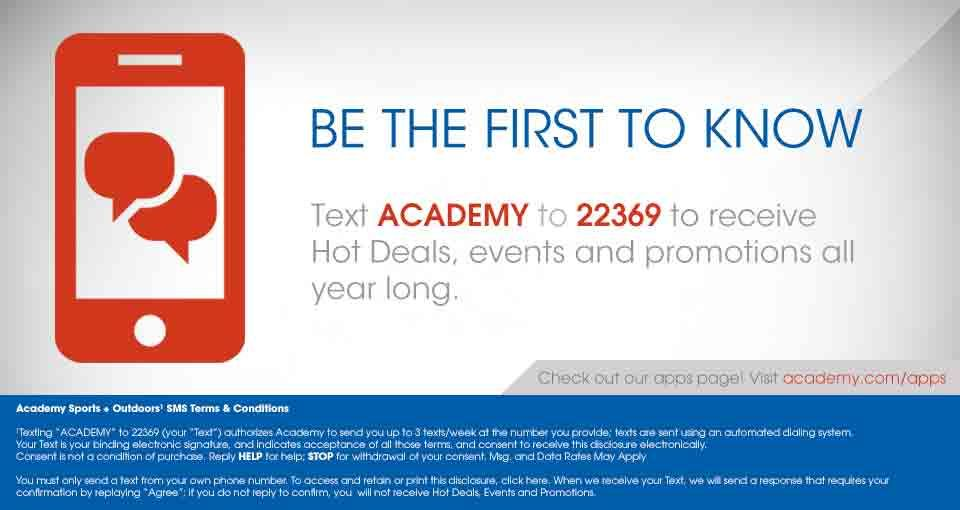 Academy Mobile Coupons Text Academy To 22369 To Get Deals And Promotions Make Blog Saving Money Printable Coupons