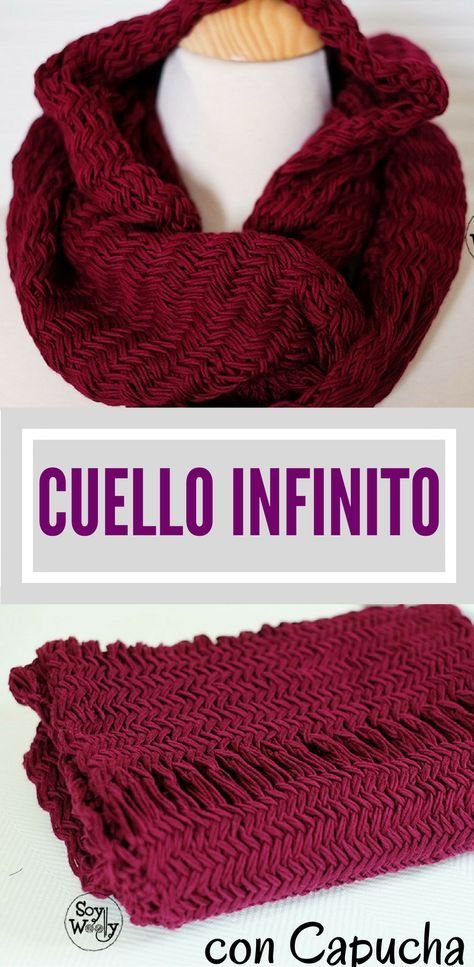 Teje una Capucha y Cuello Infinito fácil en Punto Herringbone | Knit ...