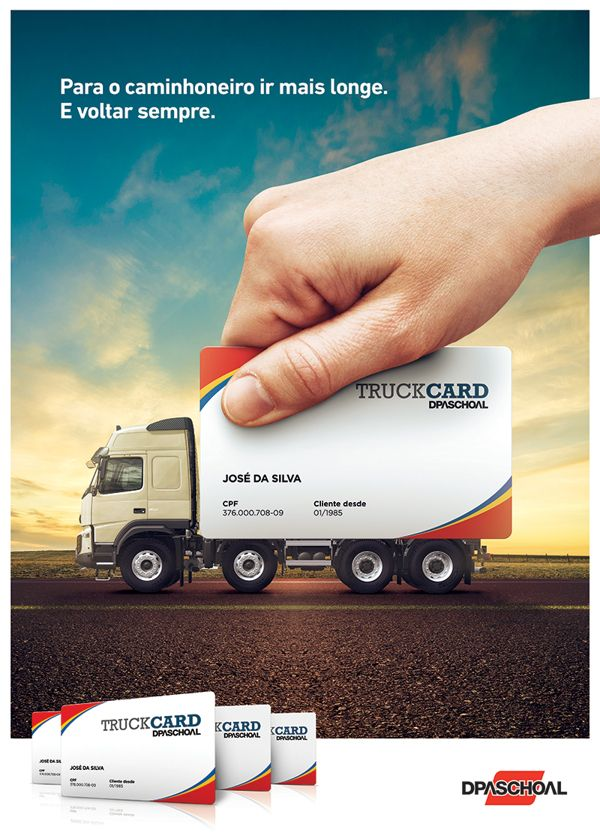 Truckcard By Lucas Rodrigues Via Behance Ads Creative Car Advertising Design Creative Advertising