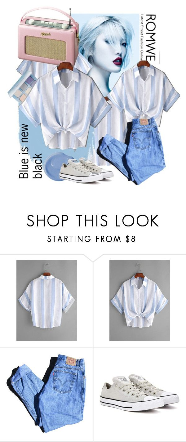 """blue is new black"" by hannah353 ❤ liked on Polyvore featuring Roberts, Levi's and Converse"