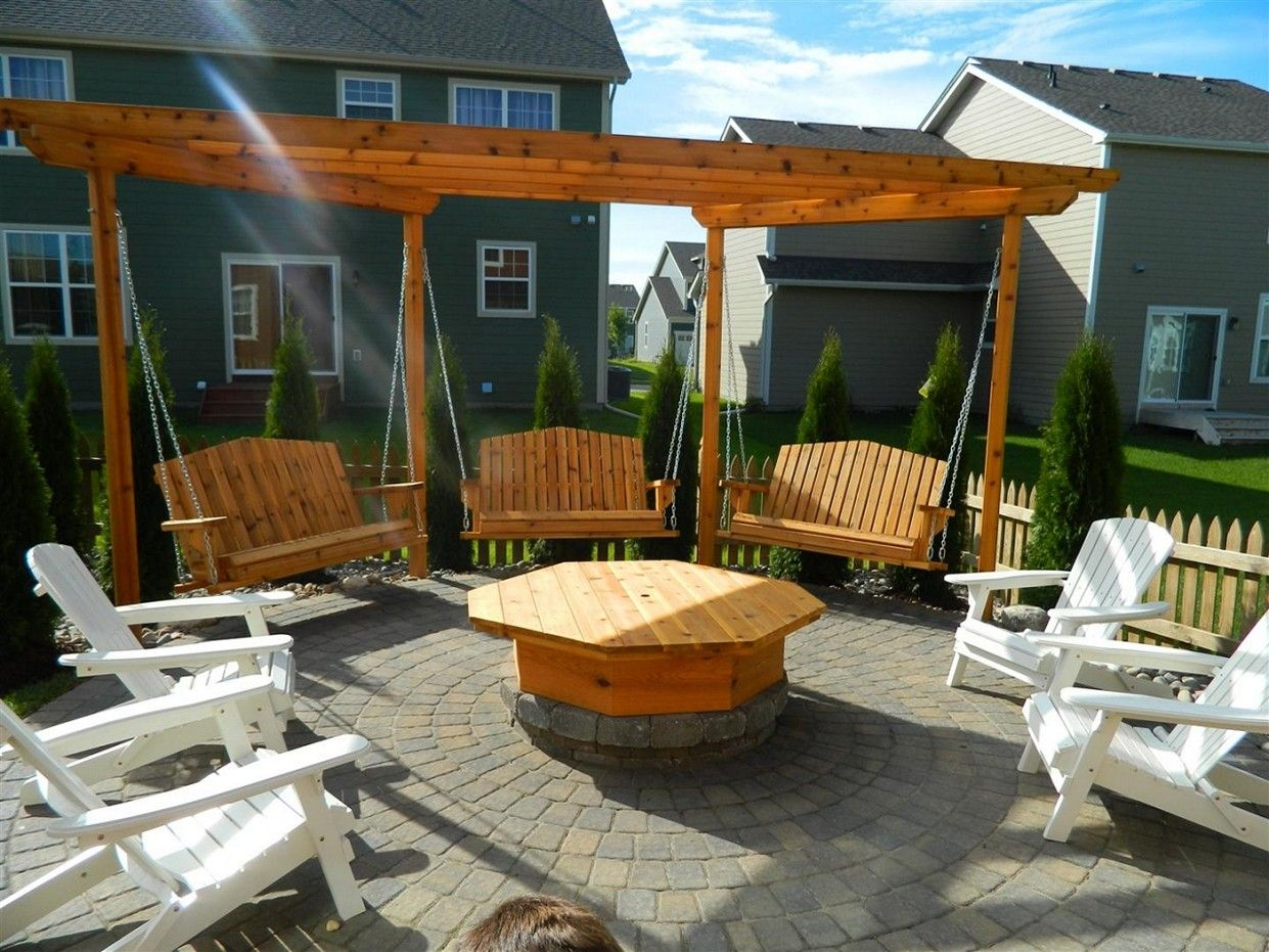 Fire Pit Seating Swing Designs Cco Co