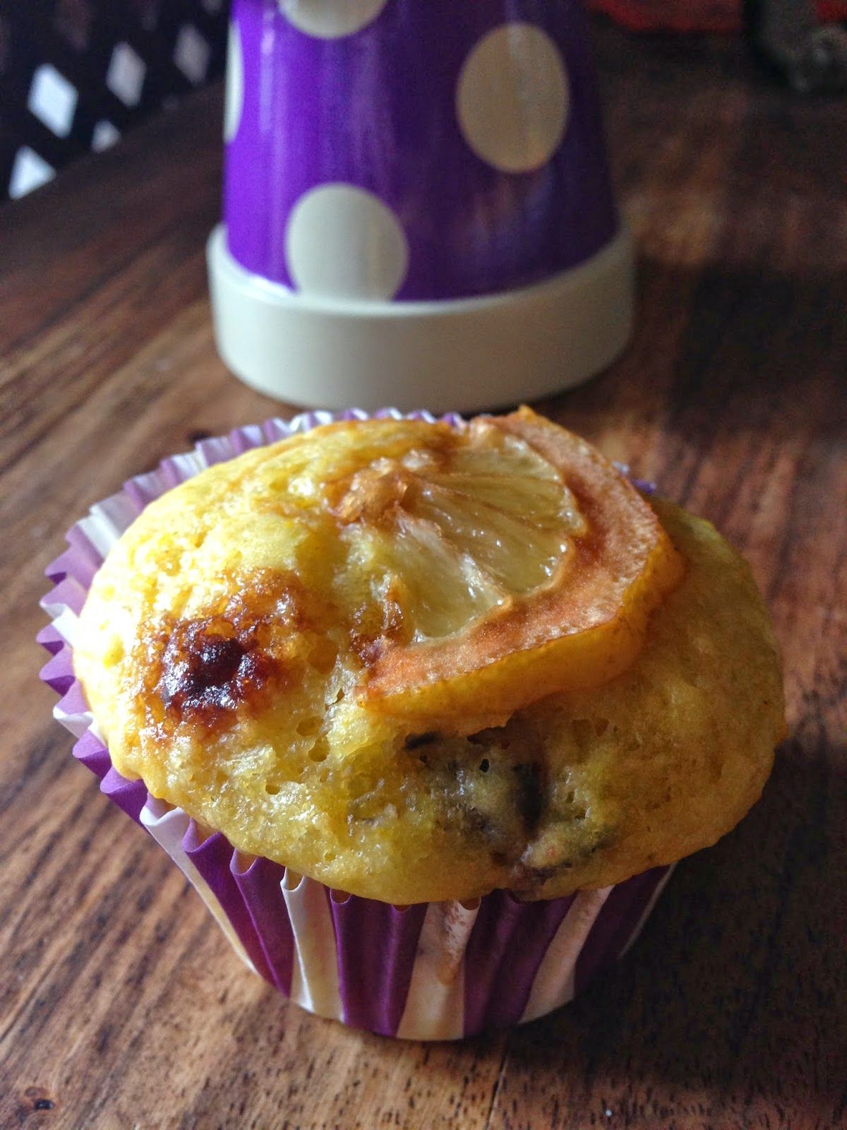 Caramelized Lemon and Blueberries Muffin