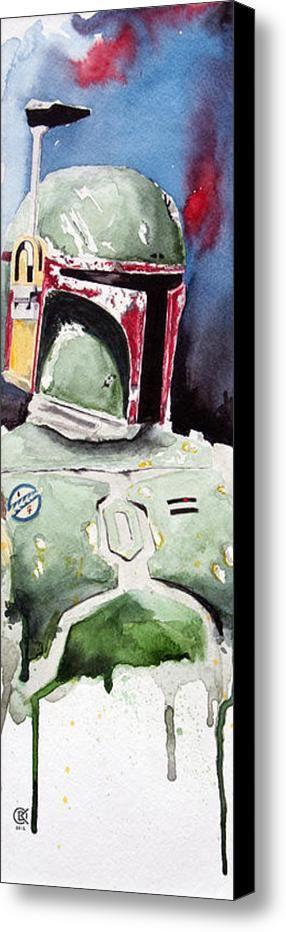 Boba Fett Canvas Print / Canvas Art by David Kraig