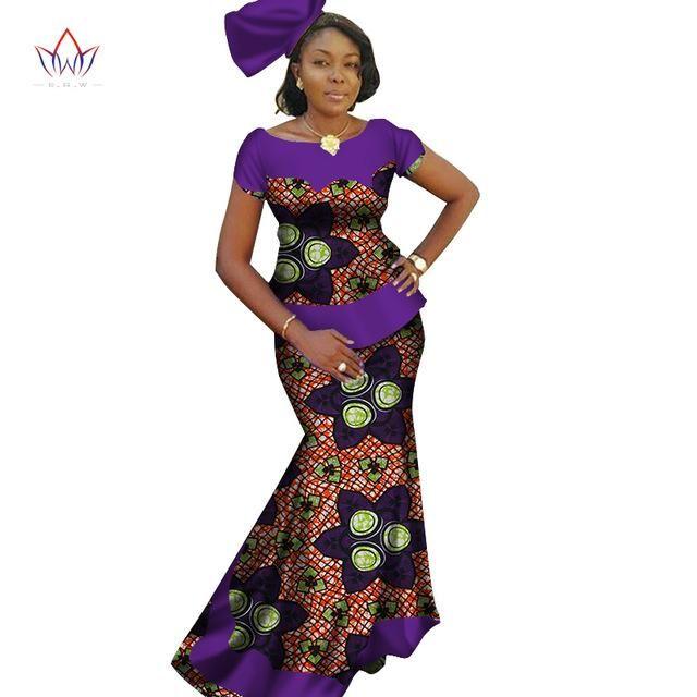 db378b8139b African Skirt Set For Women Dashiki Plus size New Style