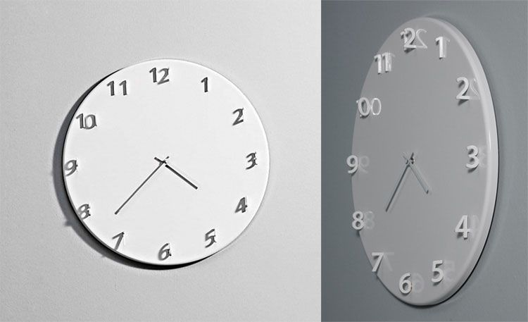 40 orologi da parete molto particolari complementi d for Orologi particolari da parete