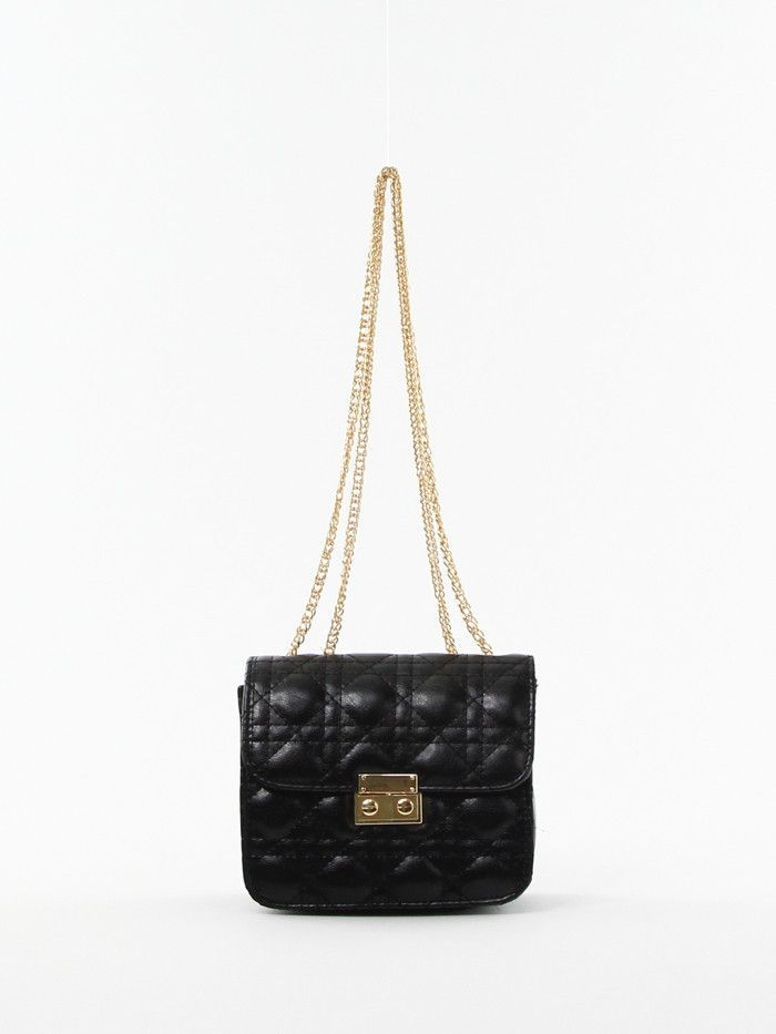 Quilted Cross-body Bag in Black