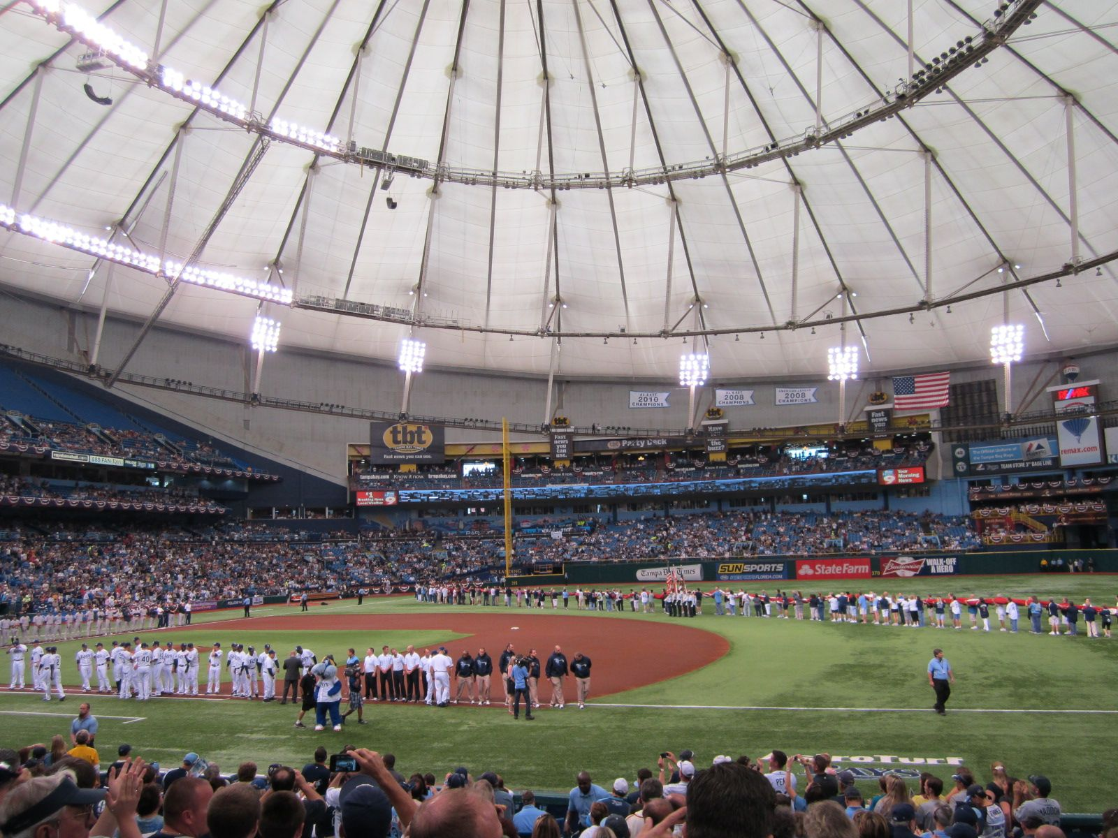 The Tropicana Dome Home The Of Rays With Images Baseball Park Tampa Bay Rays Tampa Bay