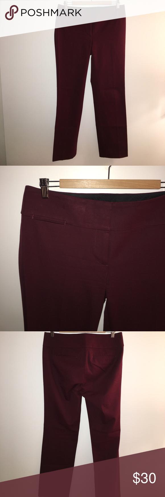 Loft burgundy trousers Loft burgundy trouser pants - brand new never worn with original tag; regular length pants LOFT Pants Trousers