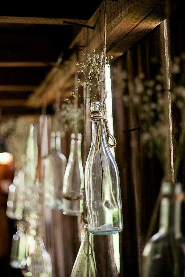 Decoração casamento garrafas