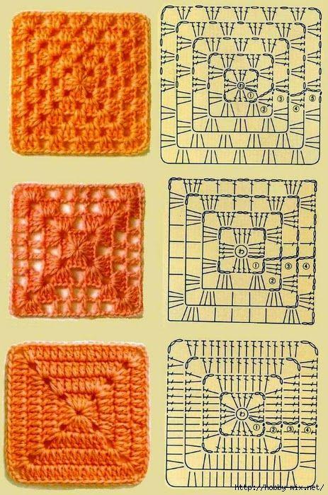 Бабушкин квадрат крючком схема фото 279