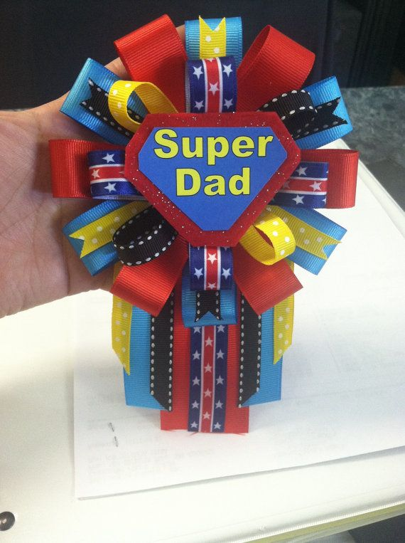 Supermom Baby Shower Corsage With Matching Superdad Baby Shower