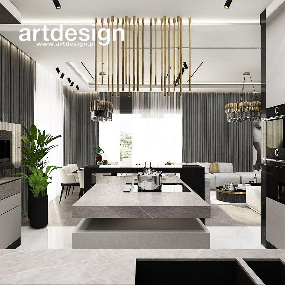 Salon Kuchnia Z Wyspa Home Decor Furniture Home