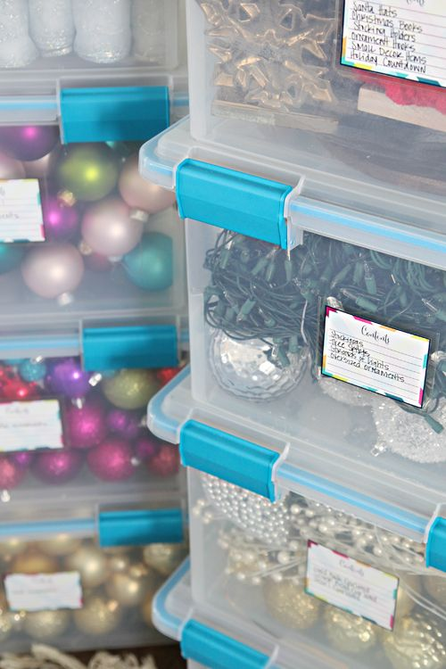 holiday decor storage organization tips great ideas to organize christmas decorations and ornaments from iheart organizing - Organizing Christmas Decorations