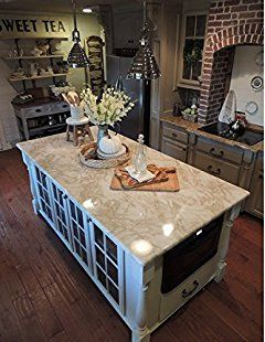 Counter Top White Marble Riviera Creme Look 36 W X 144 L By Ezfaux Décor