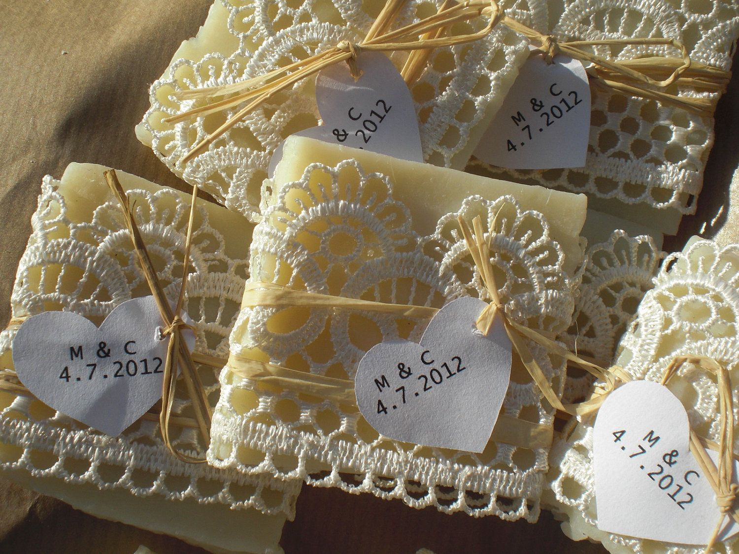 10 Mixed Wedding Favor Samples All Natural Soaps With Free Tags