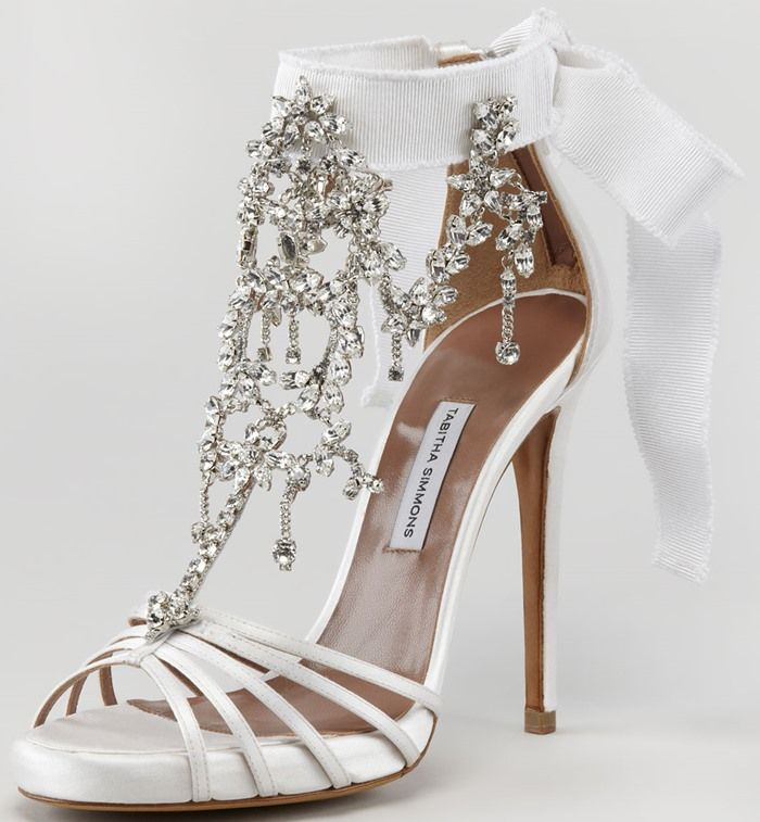 Tabitha Simmons Chandelier Sandals: The Perfect Wedding Shoes ...