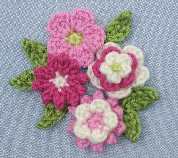 Posy Blossoms Donationware Flowers And Leaves Crochet Pattern