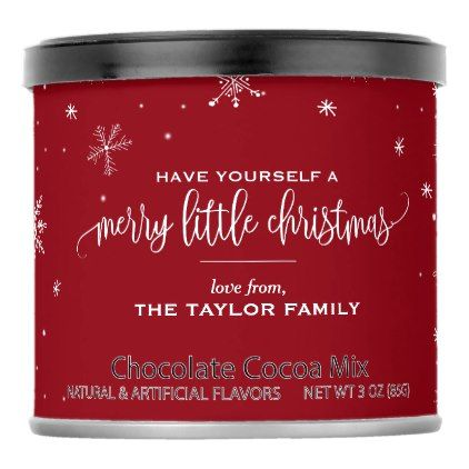 Red Snowflake Christmas Cocoa Mix    Red Snowflake Christmas Cocoa Mix  $6.50  by ChristmasPaperCo  - cyo diy customize personalize unique