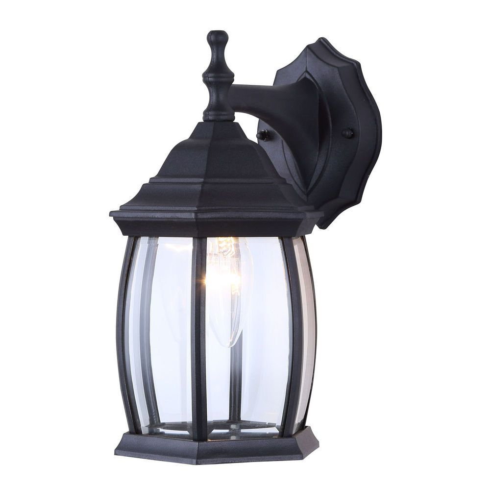 Outdoor Exterior Lantern Light Fixture Wall Mount Sconce Textured Black 615867179488 Ebay Exterior Wall Light Fixtures Wall Mounted Sconce Outdoor Light Fixtures