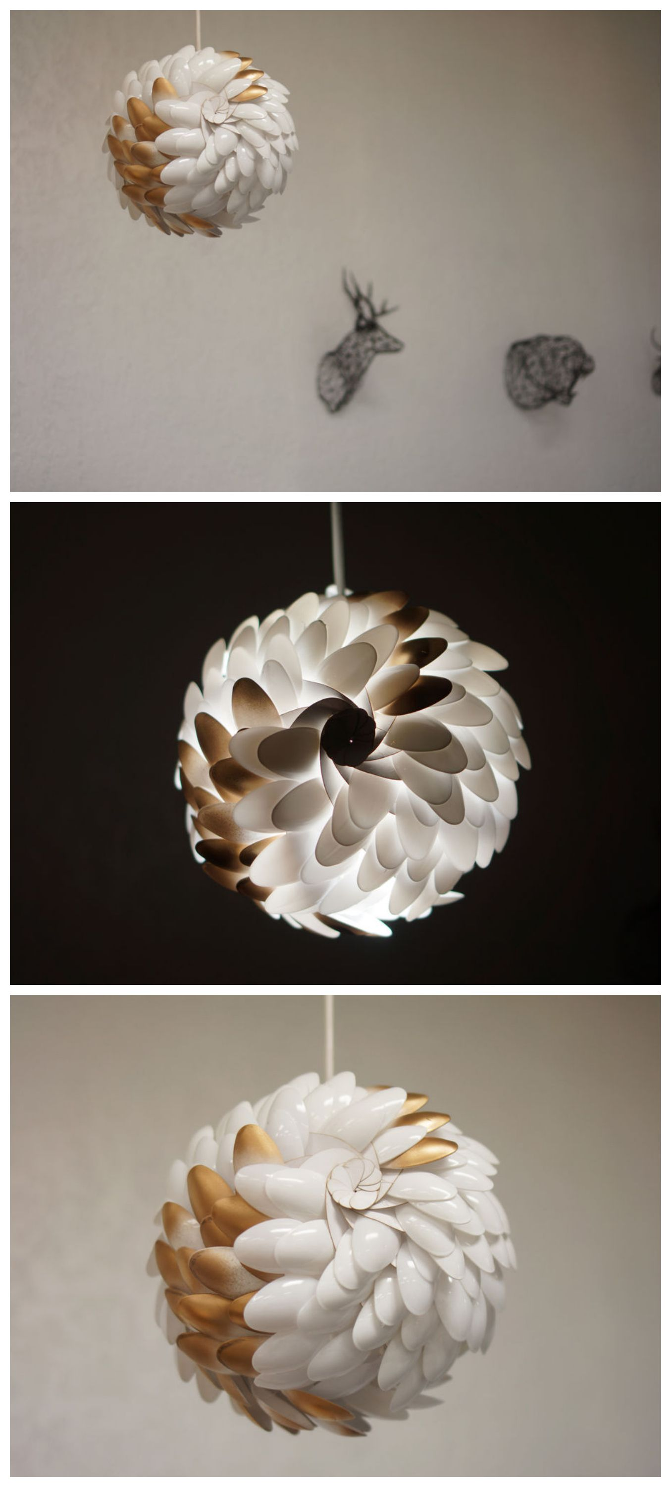 Upcycled Pangolin Lamp #Lighting #Laser Cutter #Paper Craft #Origami