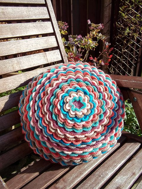 Ravelry: Blooming Flower Cushion pattern by Lucy of Attic24